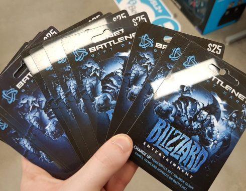Blizzard tarjeta prepagada